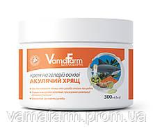 Крем Акулий хрящ на гелевой основе суставы  укрепляет хрящи антисептик анальгетик хондроитин  VamaFarm 300 мл