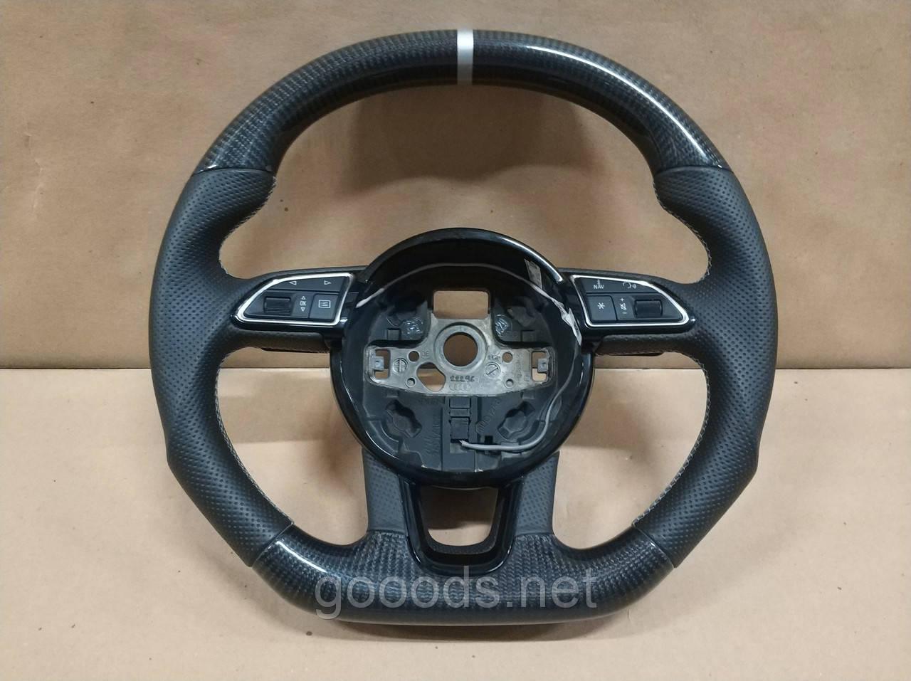 Карбоновый руль кожаный на Audi Q7