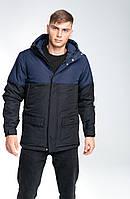 "Куртка парка чоловіча демісезонна ""Waterproof"" Intruder Navy-Black"