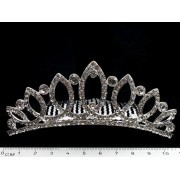 Діадема (корона, тіара) на гребінці, довжина 11 см, висота 4 см