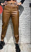 Кожаные брюки карго 3827/1 (АХ), фото 2