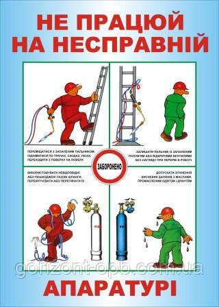 Плакат по охране труда «Не работай на неисправной аппаратуре»