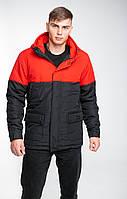 "Куртка парка чоловіча демісезонна ""Waterproof"" Intruder Red-Black"