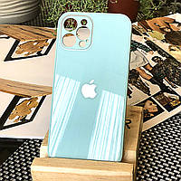 Чохол Color-Glass для Iphone 12 Pro бампер з захистом камер Turquoise