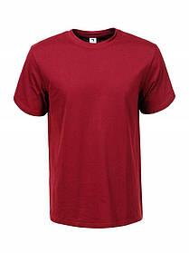 Чоловіча однотонна футболка бордова