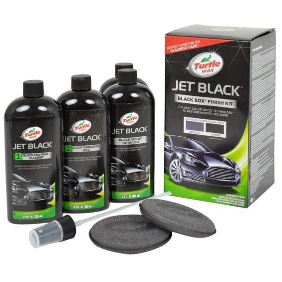 Набір поліролей для авто чорного кольору Turtle Wax Black Box Jet Black Finish Kit 4 x 355 мл (52731)