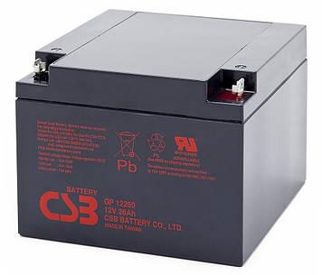 Аккумуляторная батарея CSB GP12260, 12V 26Ah (166 х175 х125 мм), Q2
