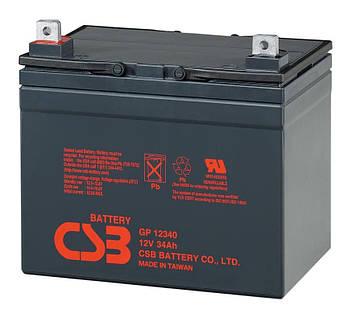 Аккумуляторная батарея CSB GP12340, 12V 34Ah (195х130х155мм)