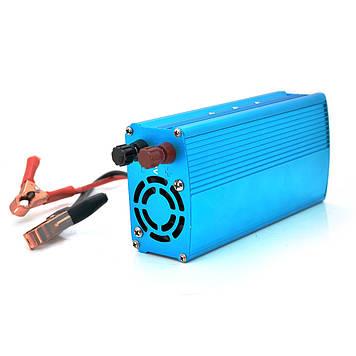 Інвертор напруги PIV1200Вт, 12/220 з апроксимована синусоїда, 1 універсальна розетка, клеми, 1 USB