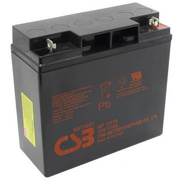 Аккумуляторная батарея CSB GP12170B1, 12V 17Ah  (181х77х167мм) Q4