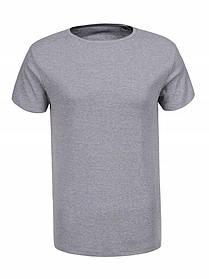 Однотонна чоловіча сіра футболка