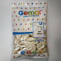 """Воздушные шары Gemar перламутровые металлик 10""""(26 см) 100 шт"""