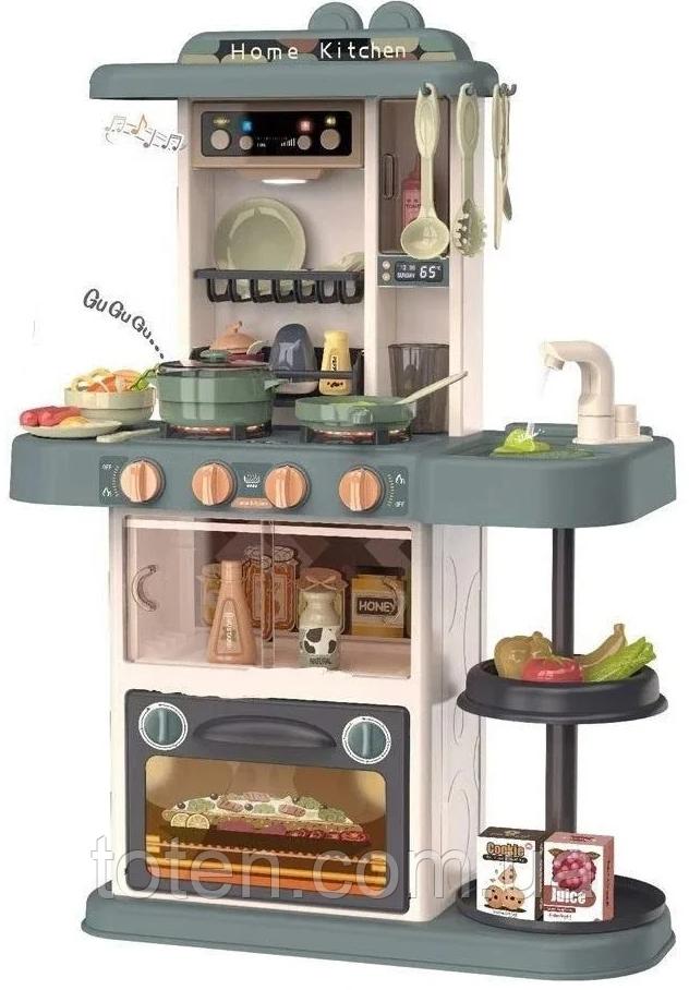 Детская кухня 72 см   Kitchen. Духовка, плита, посуда, продук, течет вода, свет, звук 38 предметов 889-185 Т
