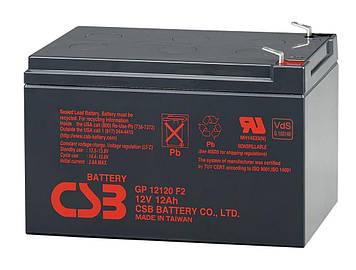 Аккумуляторная батарея CSB GP12120F2, 12V 12Ah  (151х98х100мм) Q6