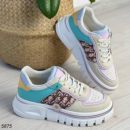 Женские разноцветные кроссовки 5875 (ВБ), фото 2