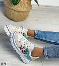 Женские разноцветные кроссовки 5875 (ВБ), фото 3