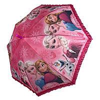 Дитячий парасольку-тростину з принцесами і оборками від Paolo Rossi, малиновий, 011-2, фото 1