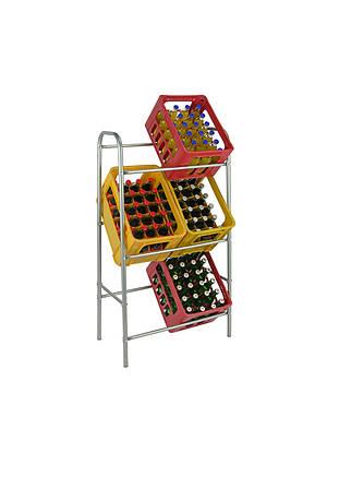 Подставка для ящиков под  бутылки  1  металик K05-220434