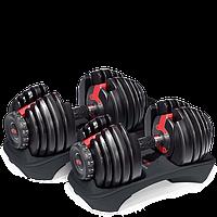 Гантели наборные Bowflex SelectTech от 2 до 24 кг Гантели, гири, штанги и диски металлические регулируемые