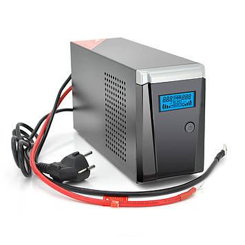 ИБП с правильной синусоидой RITAR RTSW-500 LCD (300Вт),12В, под внешний АКБ, Q4  (320*132*210) 4,2 кг