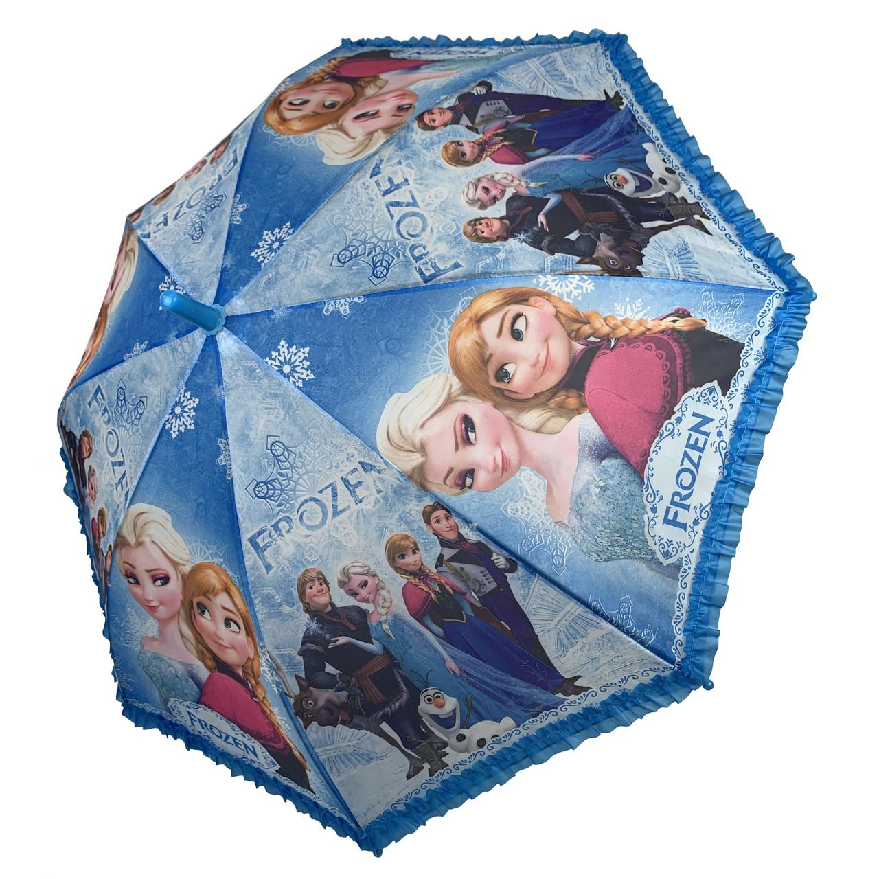 Дитячий парасольку-тростину з принцесами і оборками від Paolo Rossi, блакитний, 011-5