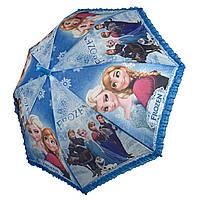 Дитячий парасольку-тростину з принцесами і оборками від Paolo Rossi, блакитний, 011-5, фото 1