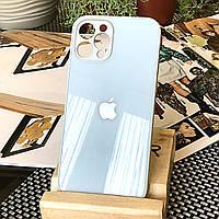 Чохол Color-Glass для Iphone 12 Pro бампер з захистом камер Sky Blue