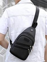 Сумка слинг BR-S мужская через плечо темно серая (1339930759), фото 2