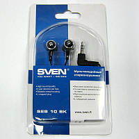 Наушники  SVEN  SEB-10BK (Распродажа!!!)(black-silver)
