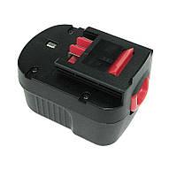 Аккумулятор для шуруповерта Black&Decker A12 1.5Ah 12V черный
