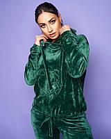 Женский велюровый спортивный костюм большого размера.Размеры:48/50,52/54,56+Цвета, фото 1