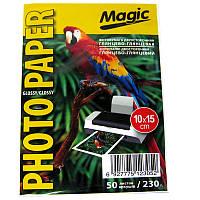 Фотобумага Magic  A6 double Glossy/Glossy Photo Paper  50л 230г/м2 глянец(10х15)