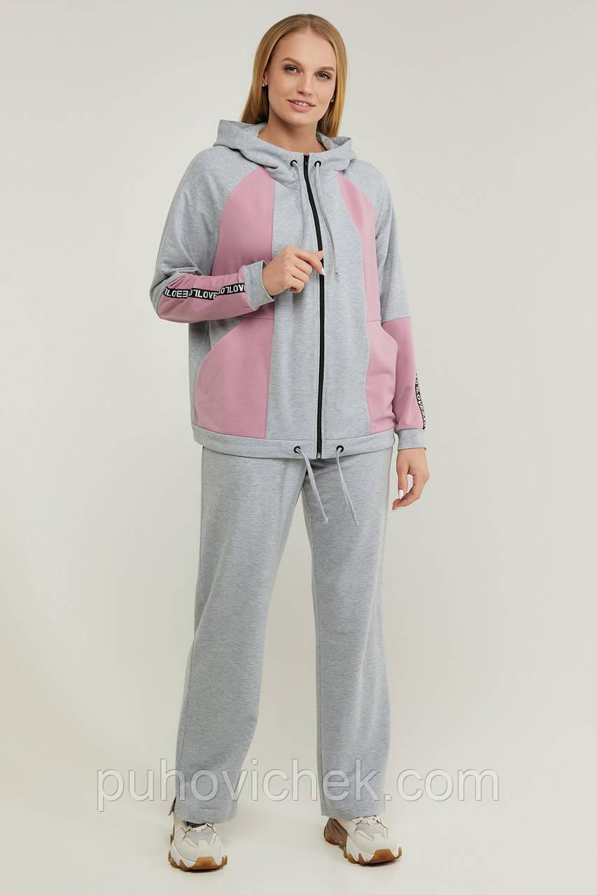 Стильный спортивный костюм женский размеры 50-60