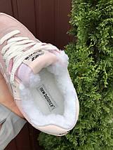 Теплые кроссовки женские пудровые, фото 2