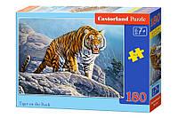 Пазлы Castorland на 180 элементов TIGER ON THE ROCK B-018451