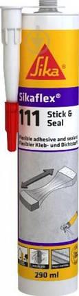 SIKAFLEX®-111 STICK & SEAL Еластичний багатоцільовий клей-герметик білий, 290 мл, фото 2