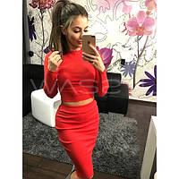 Женский Костюм: кофта + юбка XL, Красный