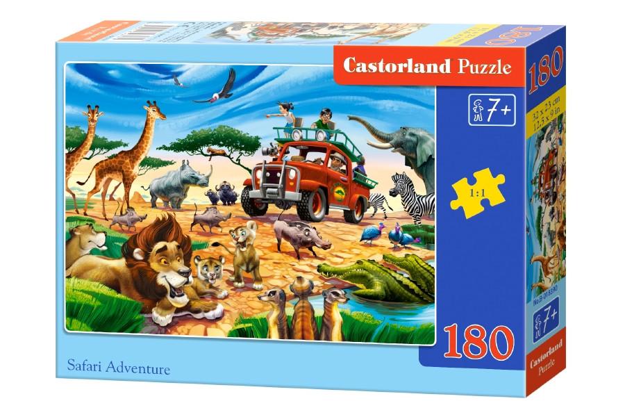 Пазлы Castorland на 180 элементов SAFARI ADVENTURE B-018390