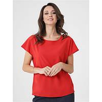 Блуза свободного кроя (Красный)