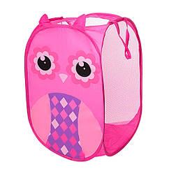 Кошик для іграшок M 5767(Pink) 34-34см, висота 58 см, 2 ручки