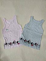Майка трикотажная детская для девочки Далматинцы от 0-1 до 10-11лет, цвет уточняйте при заказе
