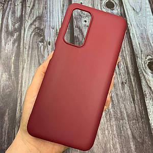 Чехол для Xiaomi Mi 10T / Mi 10T Pro цветной яркий плотный силиконовый чехол на сяоми ми 10т про бордовый