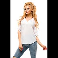 Блуза летняя S, Белый