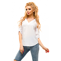 Блуза летняя L, Белый