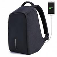 Рюкзак антивор с USB черный