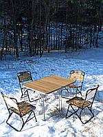 """Складная мебель для рыбалки, туризма, пикника, кемпинга и отдыха на природе """"Классический О2Х+4"""" стол и стулья"""