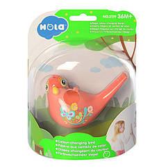 Свисток 3139(Orange) пташка, 15см, змінює колір