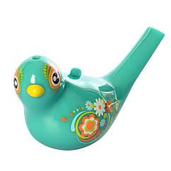 Свисток 3139(Turquoise) пташка, 15см, змінює колір