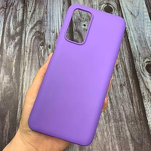 Чехол для Xiaomi Mi 10T / Mi 10T Pro цветной яркий плотный силиконовый чехол на сяоми ми 10т про фиолетовый
