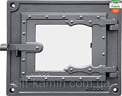 Печные дверцы со стеклом Halmat DPK17W (Н1638) (240х275)